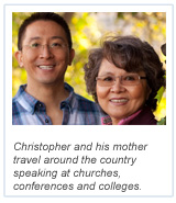 Alumni Stories - Christopher Yuan and Mother - With Caption